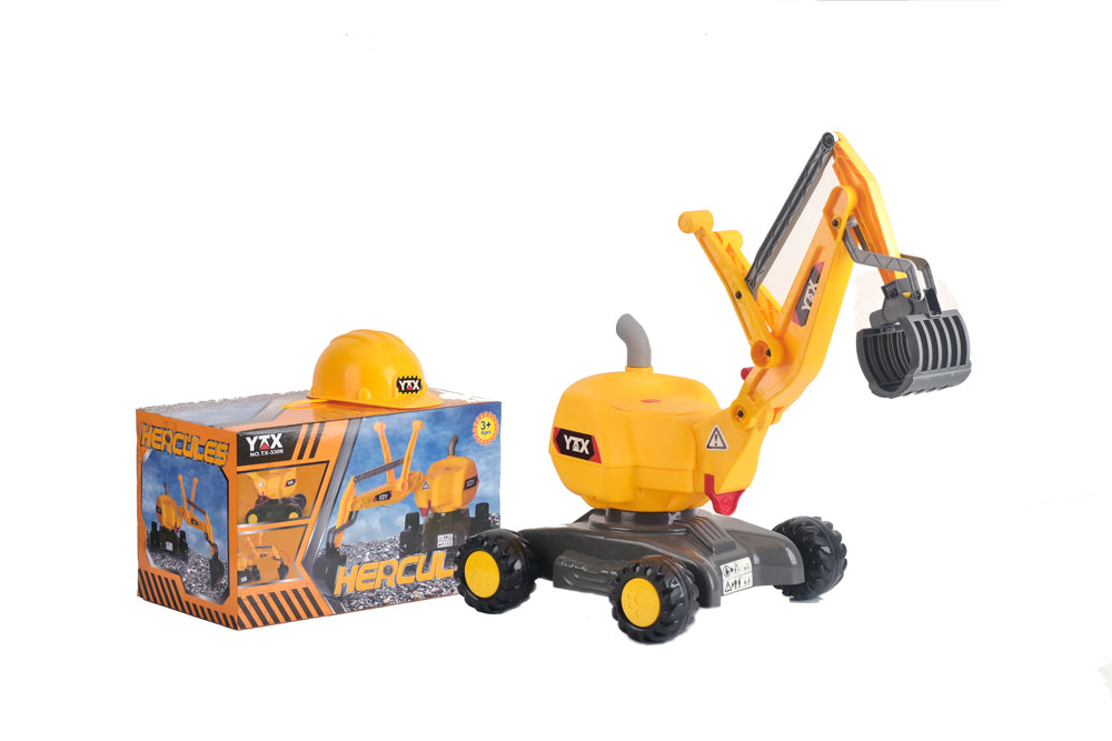 RICCO® 2 in 1 Ride On Toy Digger Excavator Grabber with Helmet TX3308 - RICCO® Toys