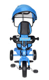 Kids Easy Steer Pedal Tricycle Buggy Stroller with Oxford Cloth (RICCO XG18859 Blue) - RICCO® Toys