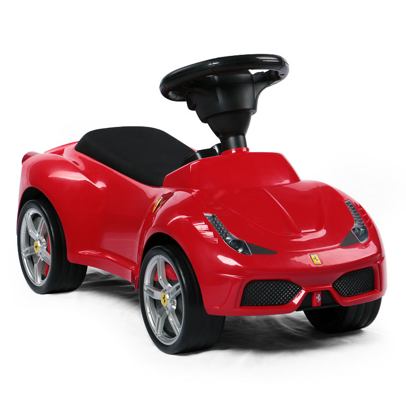 Ricco RS83500 Ferrari 458 Red Genuine Official Licensed Ferrari 458 Kids Manual Ride On Foot Push Along Sliding Toy Car