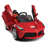 Genuine Official Ferrari Licensed La Ferrari Kids 12V Electric Ride On Car with MP3 and Remote Control - Red - RICCO® Toys