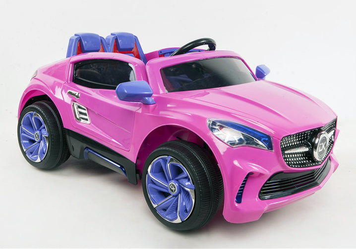 12V Battery Powered Kids Electric Ride On Toy Car (Model: F007) PINK