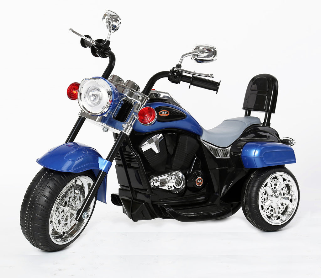 Kids 3 Wheel Chopper 6V 4.5Ah Battery Powered Harley Style Electric Motor Trike (Model: TR1501 ) BLUE