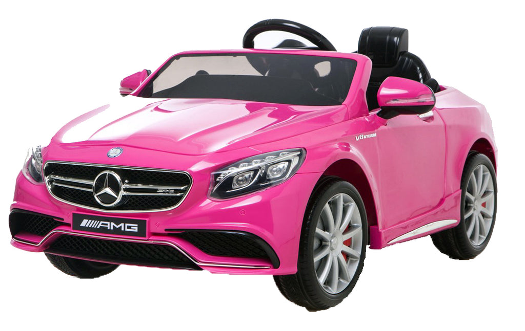 6V 7Ah Battery Twin 15W Motors Powered Mercedes-Benz 63 AMG Licensed Twin Motor Electric Toy Car  (Model: HL169) PINK