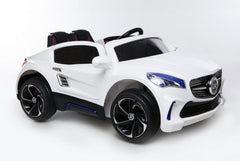 12V Battery Powered Kids Electric Ride On Toy Car (Model: F007) WHITE - RICCO® Toys