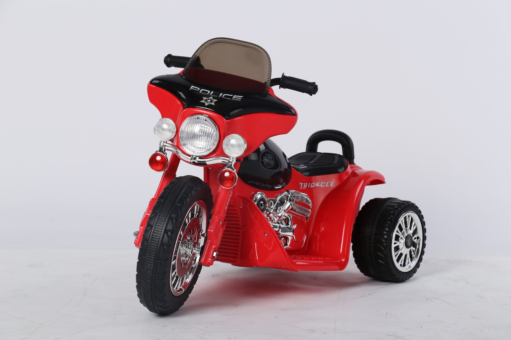 6V 4.5Ah Battery Powered Harley Style Electric Motor Trike (Model: JT568 ) RED - RICCO® Toys
