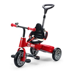 Ricco RSZ3003 RED Genuine BMW Mini Licenced Badged Foldable Tricycle Three Wheel Kids Pedal Trike - RICCO® Toys