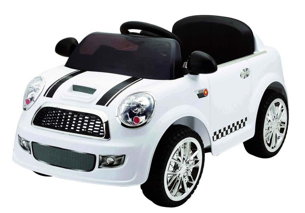 6V 15W Battery Powered Electric Ride On Mini Toy Car with Parental Remote Control (Model: S6088) WHITE