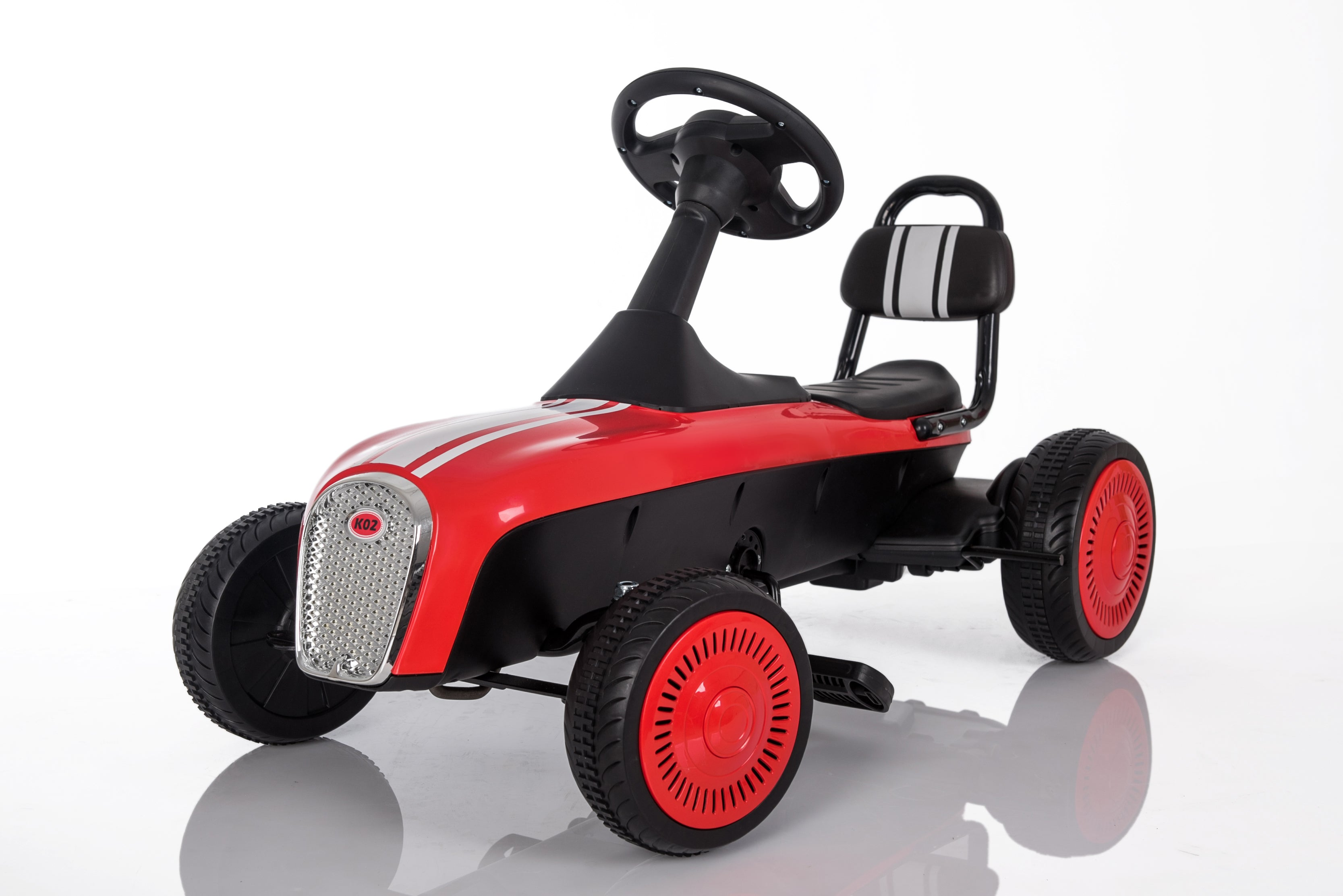 3-8 Year Old Kids Outdoor Go Kart with Foot Pedal and Brake Lever ...