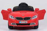 Ricco S2188 RED Kids Coupe BMW Style Ride on Car with LED Lights Music Parental Remote Control - RICCO® Toys