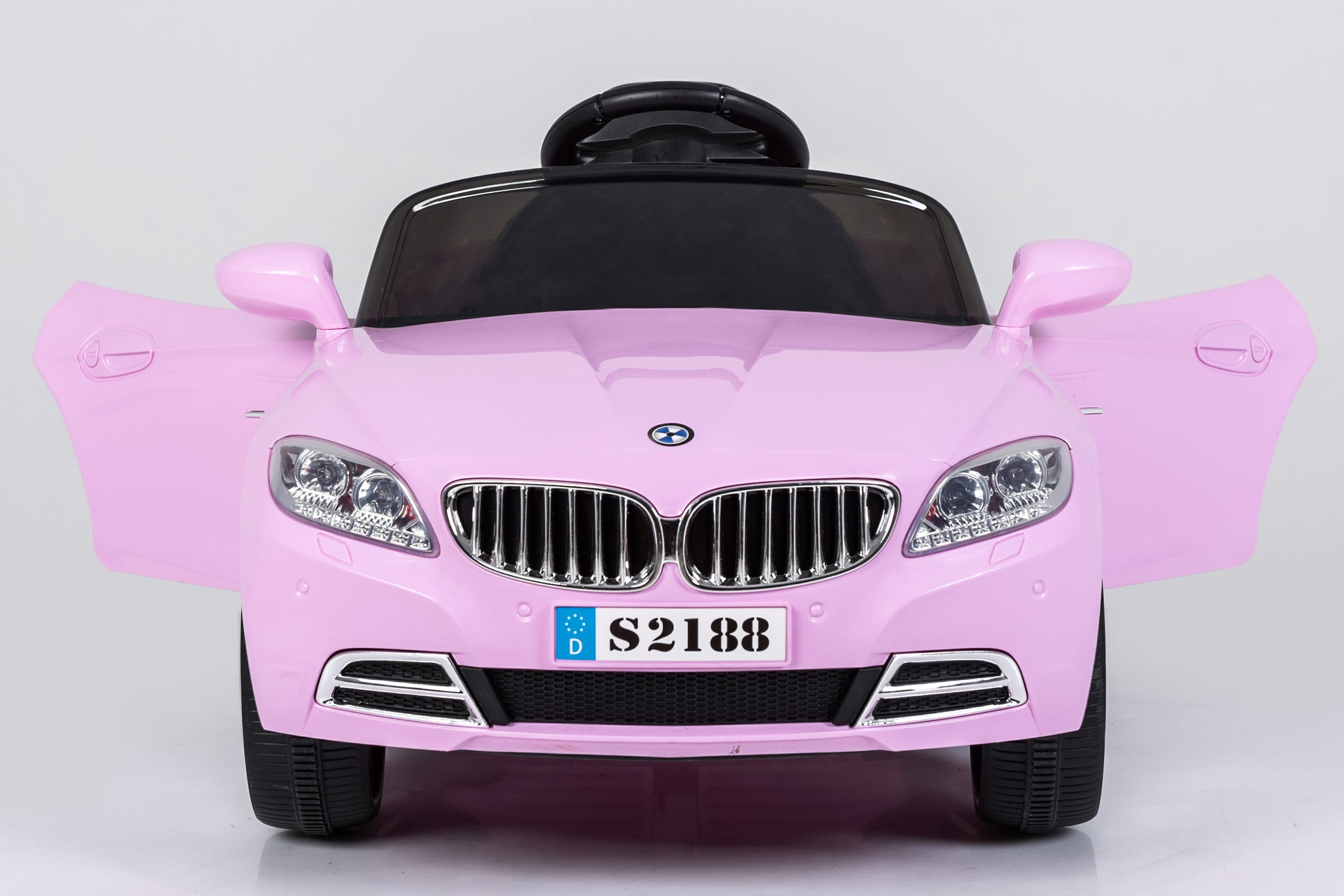 Ricco S2188 PINK Kids Coupe BMW Style Ride on Car with LED Lights Music Parental Remote Control - RICCO® Toys