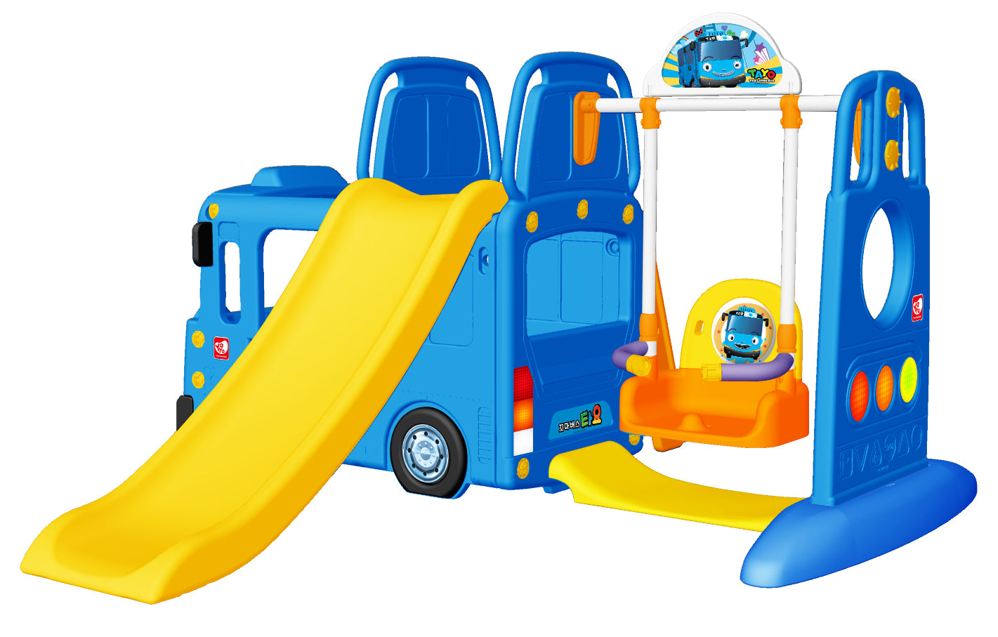 RICCO 3-in-1 Indoor Outdoor Bus Climb and Slide Kids Toddler ...