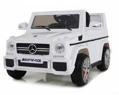 12V 7Ah Battery Powered Mercedes-Benz G65 Licensed Twin Motor Electric Toy Car  (Model: LS528 ) WHITE
