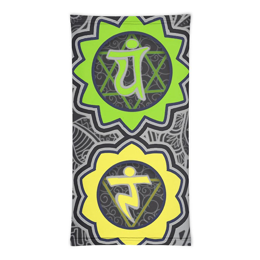 'Green & Yellow Chakras' Neck Gaiter