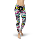 Sugar Skull Colored Leggings