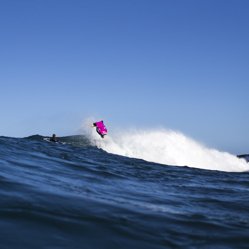 Stealth Bodyboards Nick Gornall Bearded Lady Backflip South Australia Josh Tabone