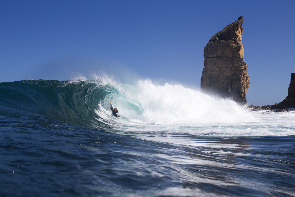 Stealth Bodyboards Nick Gornall Bearded Lady South Australia Josh Tabone Barrel