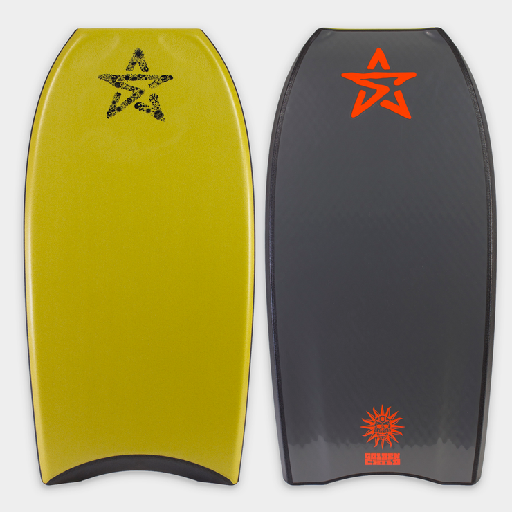 Stealth Bodyboards Online Store - Golden Child Kinetic George Humphreys - Yellow / Gunmetal Grey