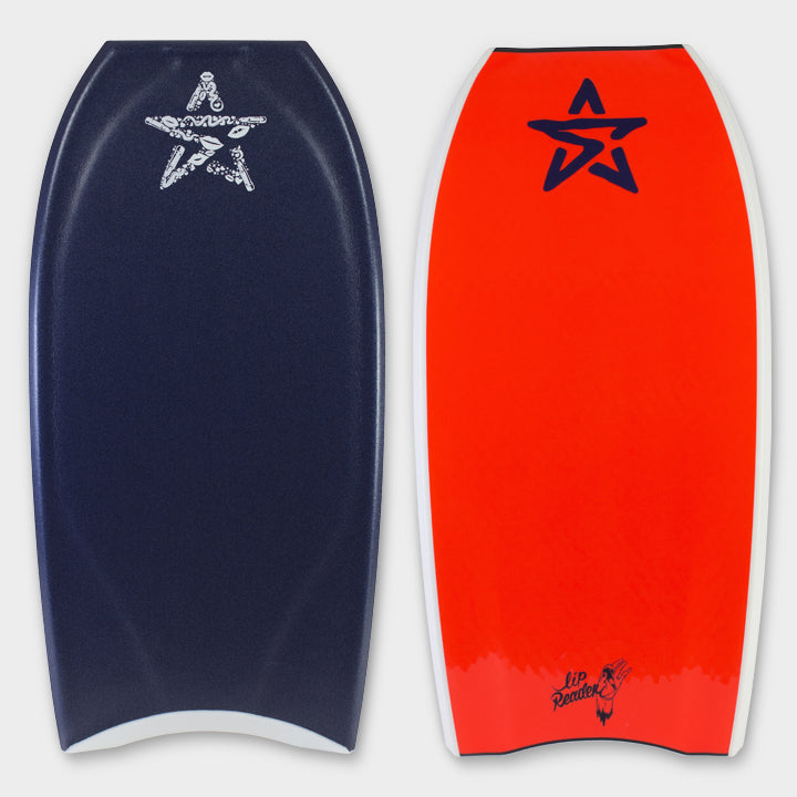 Stealth Bodyboards Online Store - Lip Reader Bodyboard Nick Gornall - Midnight / Fluro Red