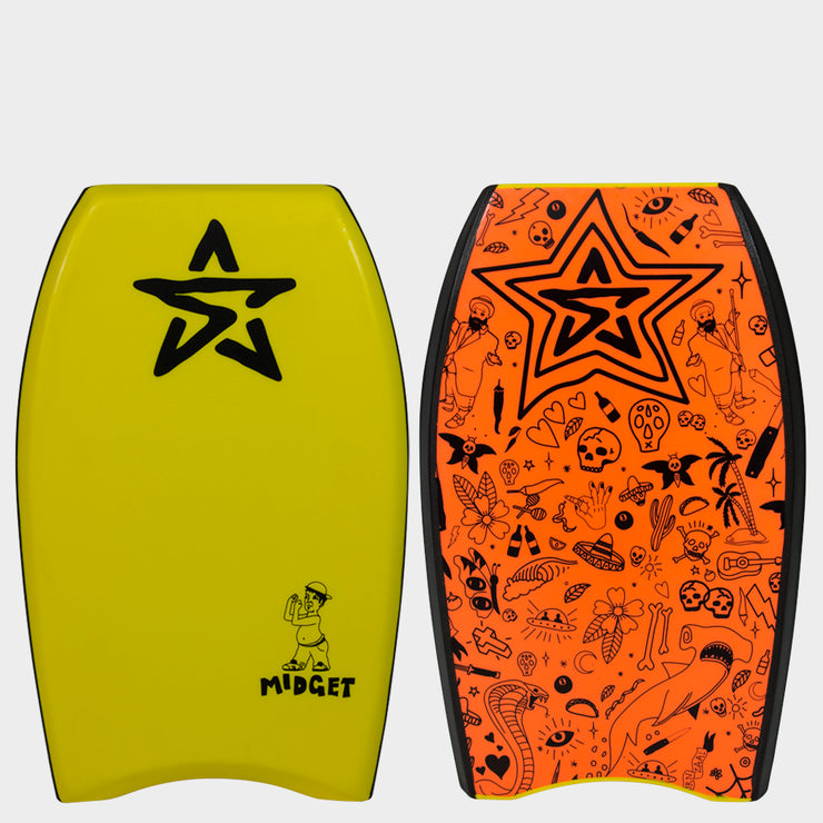 "Stealth Bodyboards Midget 22"" Yellow"