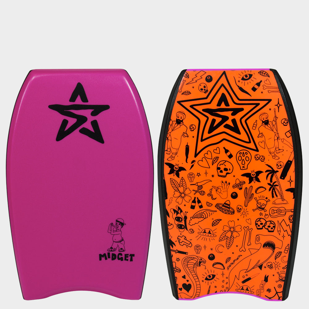 "Stealth Bodyboards Midget 22"" Pink"