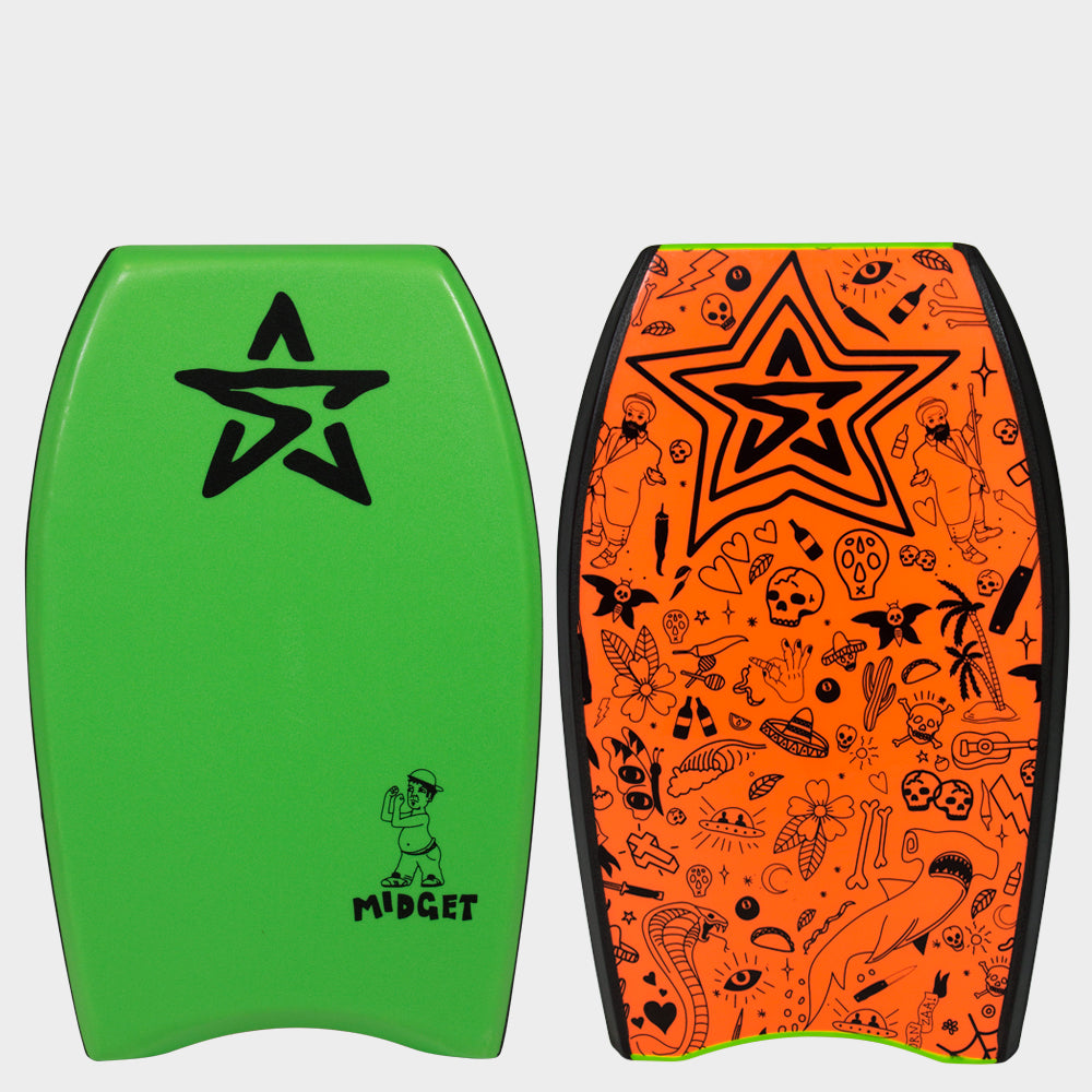 "Stealth Bodyboards Midget 22"" Green"