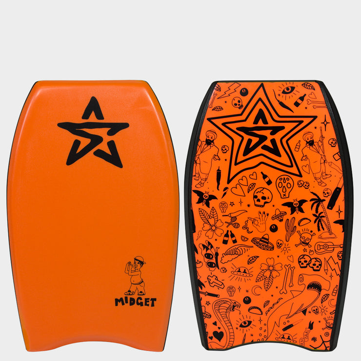 "Stealth Bodyboards Midget 22"" Orange"