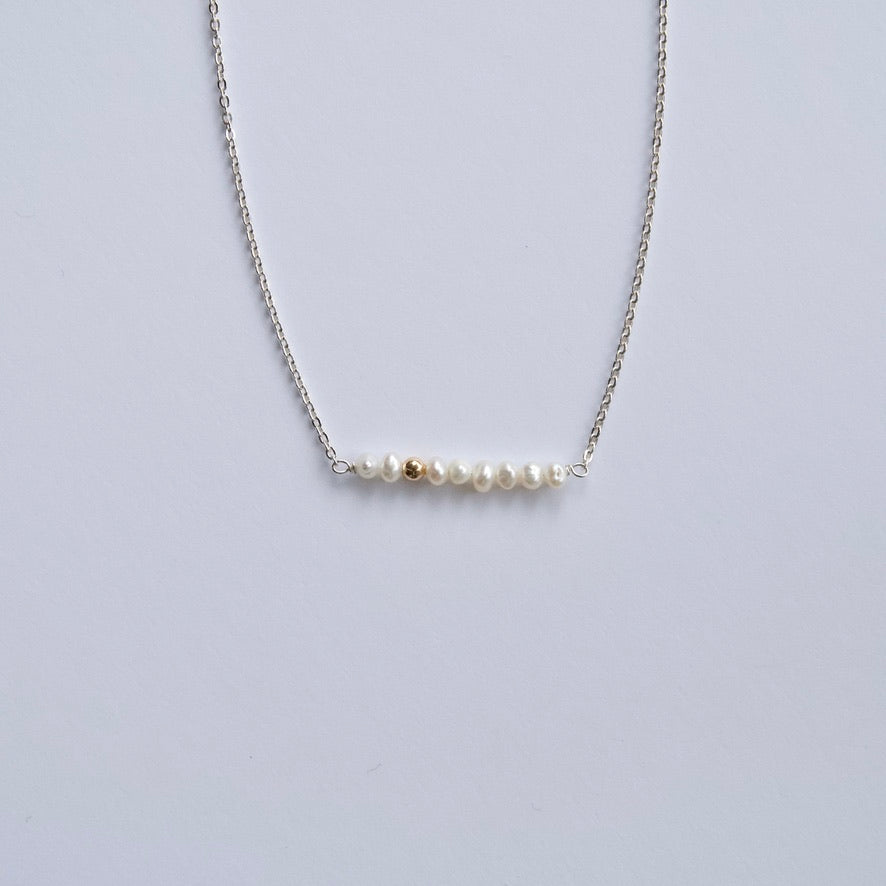 Small White Pearl Necklace