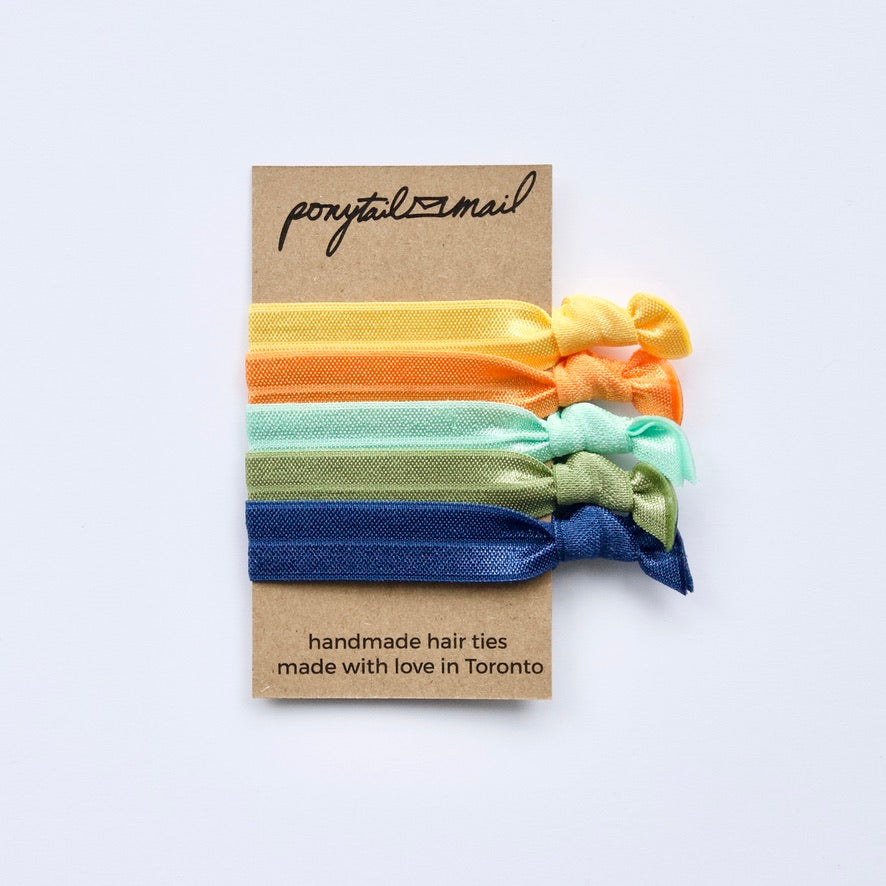 Margaritaville Hair Tie Pack of 5 by Ponytail Mail