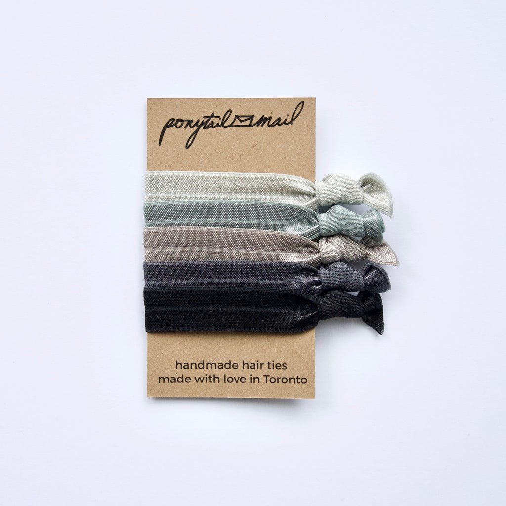 au naturel #3 Hair Tie Pack of 5 by Ponytail Mail