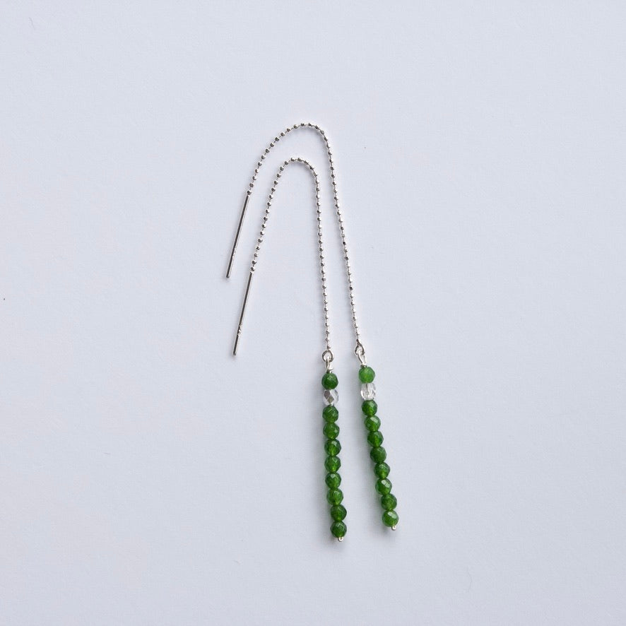 Jade Threader Earrings