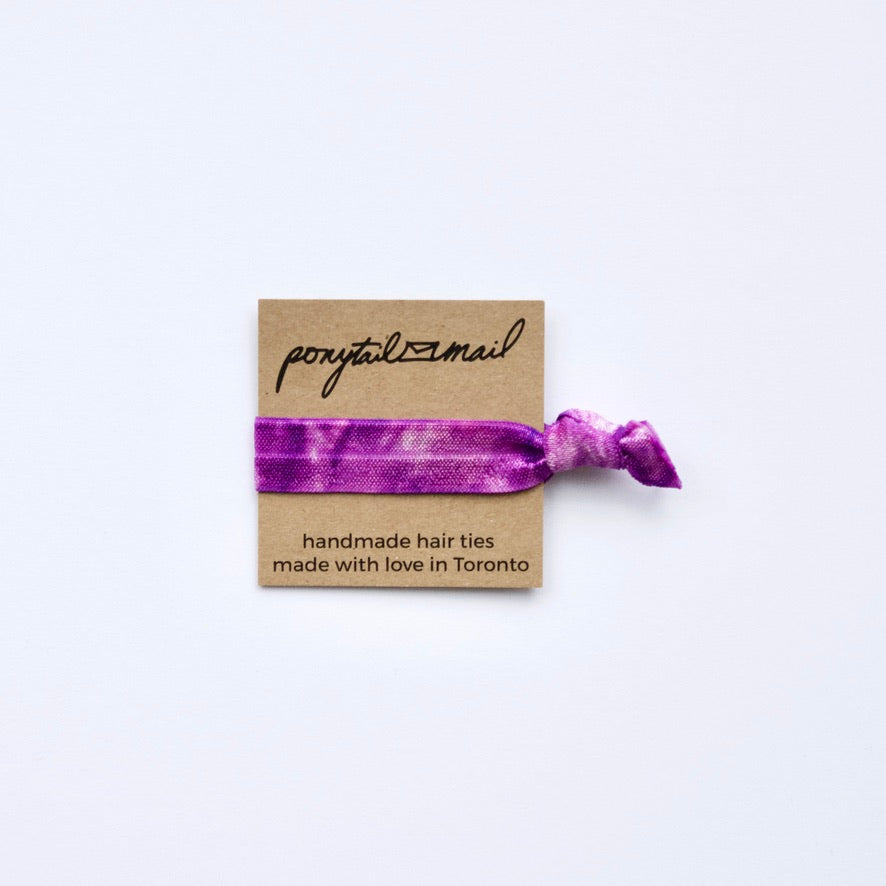 Single Hair Tie by Ponytail Mail in Purple Swirl