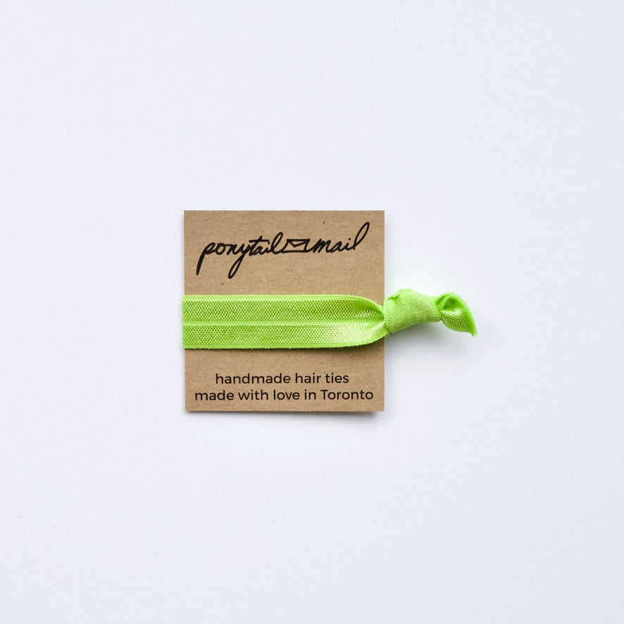 Single Hair Tie by Ponytail Mail in Green Apple