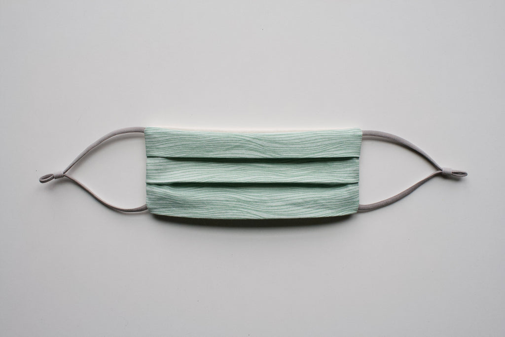 Green Waves Ponytail Mail Mask