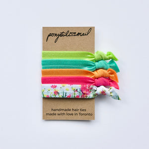 Spring Fling Hair Tie Pack of 5 by Ponytail Mail
