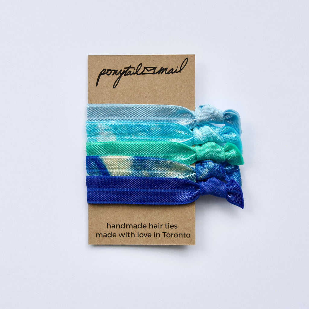 Tropical Breeze Hair Ties Pack Ponytail Mail