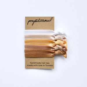au naturel #1 Hair Tie Pack Ponytail Mail