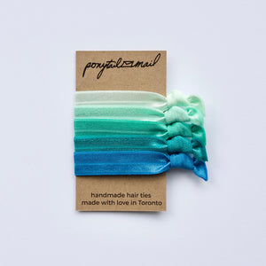 Seaside Hair Tie Pack of 5 by Ponytail Mail