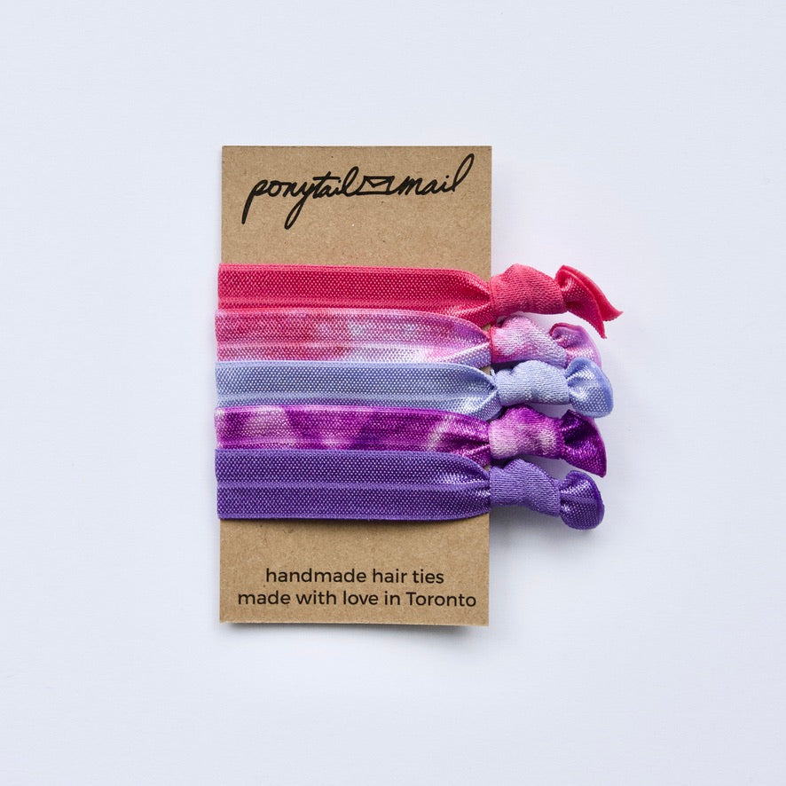 Tie Dye Fever Hair Tie Pack of 5 by Ponytail Mail