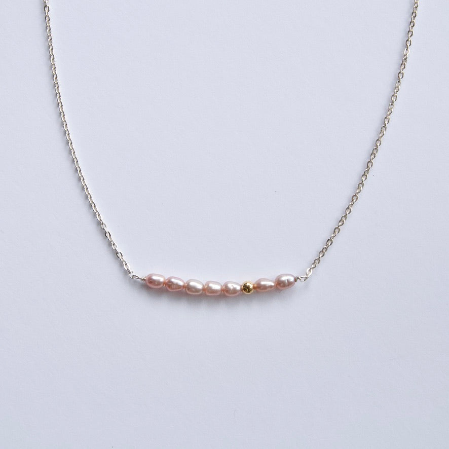 Small Pink Pearl Necklace