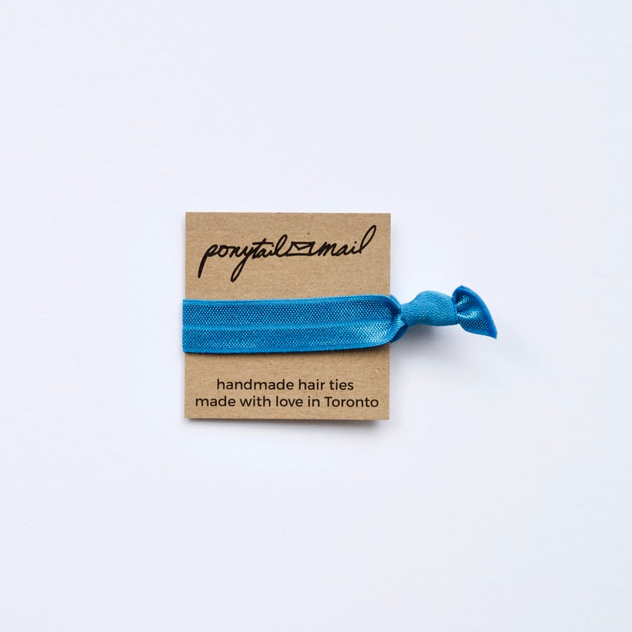 Single Hair Tie by Ponytail Mail in Azure
