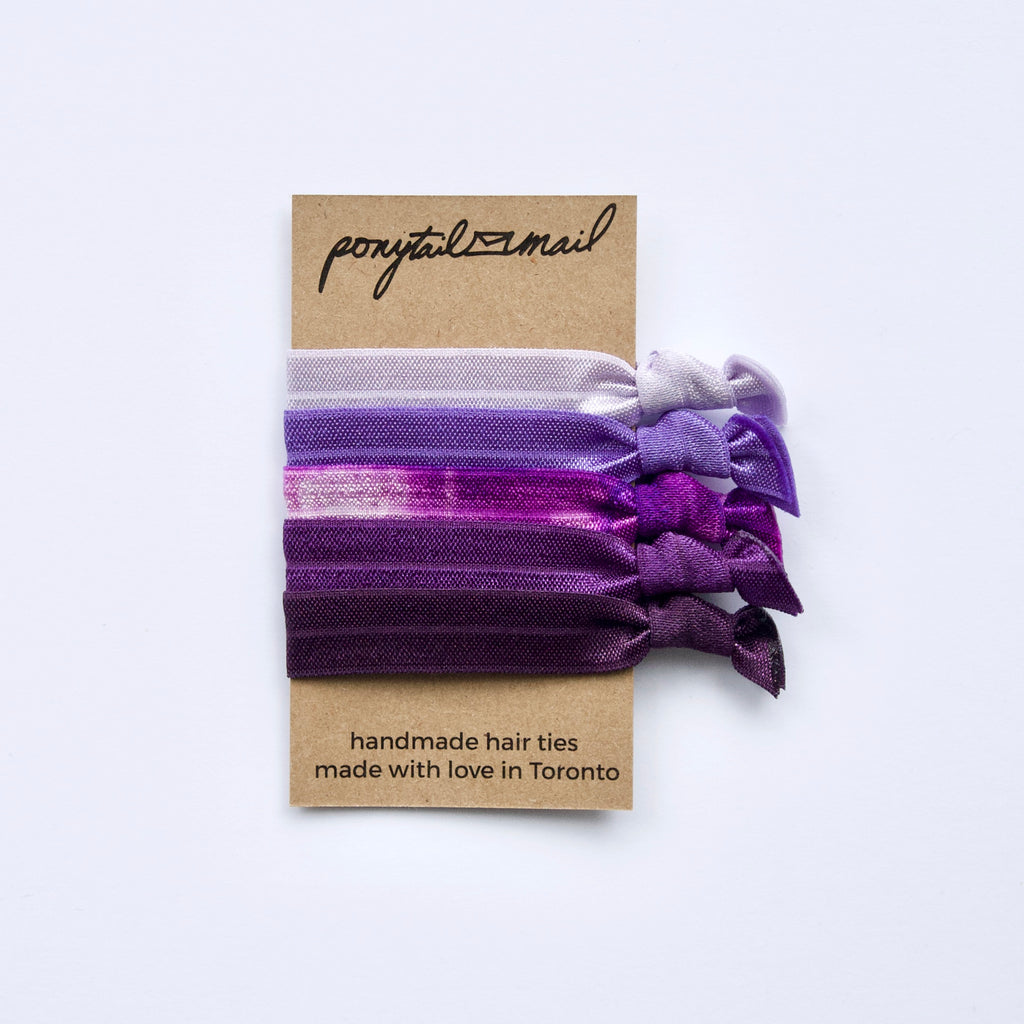 Grape Juice Hair Tie Pack of 5 by Ponytail Mail