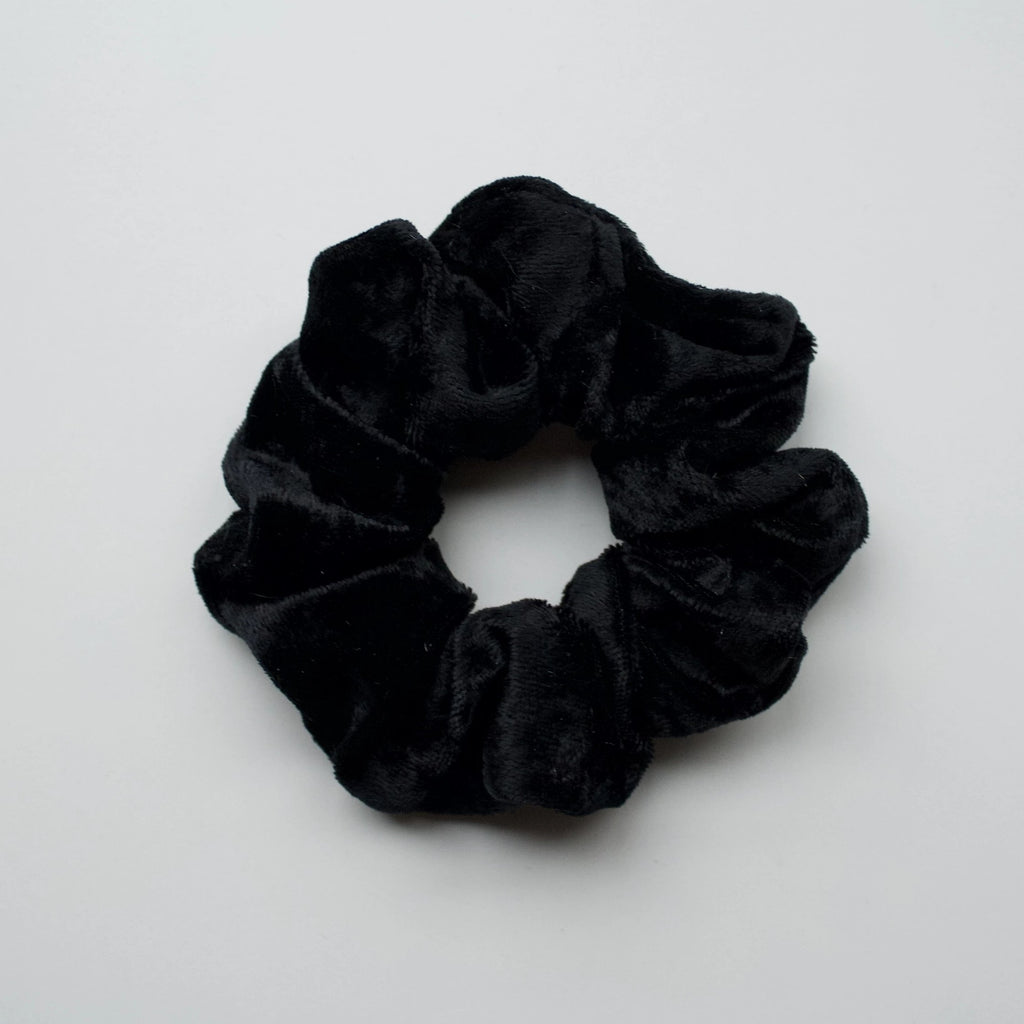 Ponytail Mail Scrunchie Black Velvet