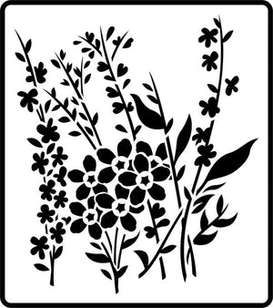 Wild Flowers Stencil - Twist My Armoire