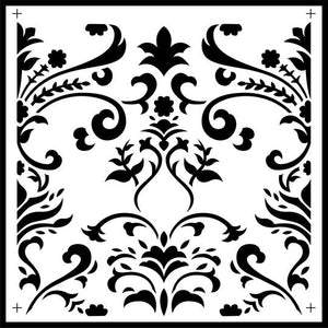 Damask Tile Stencil - Twist My Armoire