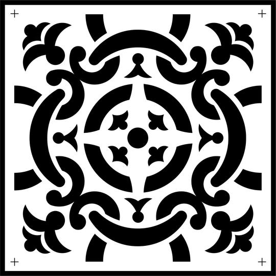 Celtic Tile Stencil