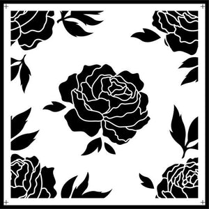 Rose Tile Stencil - Twist My Armoire