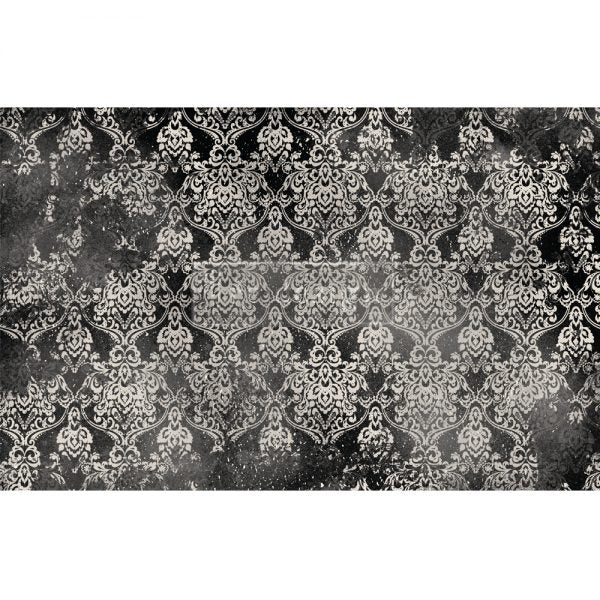 Dark Damask Decoupage Tissue Paper