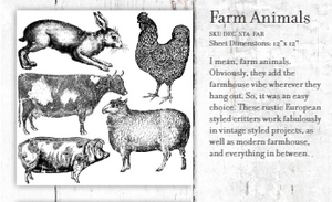 Farm Animal Stamps - Twist My Armoire