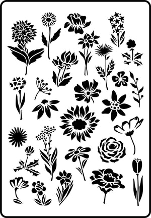 Flower Garden Stencil - Twist My Armoire