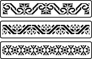 Mexican Embroidery Border Stencil - Twist My Armoire